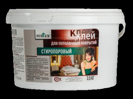 Клей для потолочных покрытий ECOLUX стиропоровый