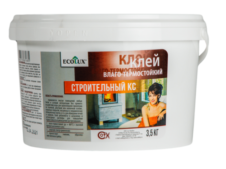 Клей строительный ECOLUX КС влаго-термостойкий