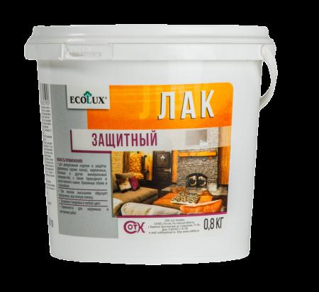 ЛАКИ «ECOLUX»: Защитный полуматовый, Глянцевый с эффектом мокрого камня